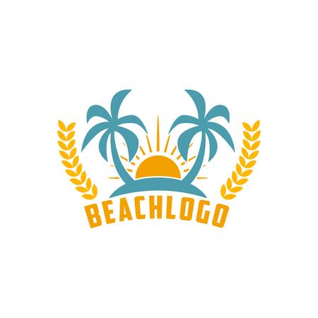 Beach Vector Template Stock fotó