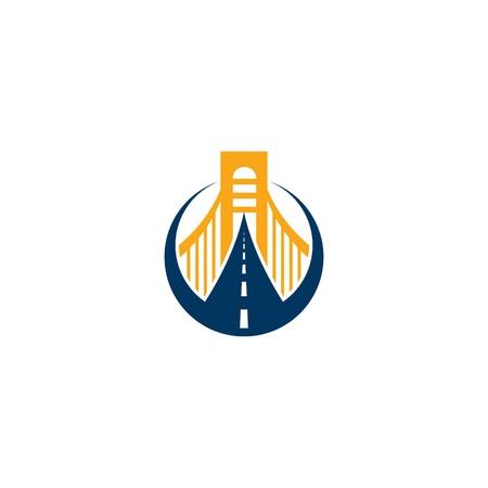 Bridge Building Logo Template Stock fotó - 51998425