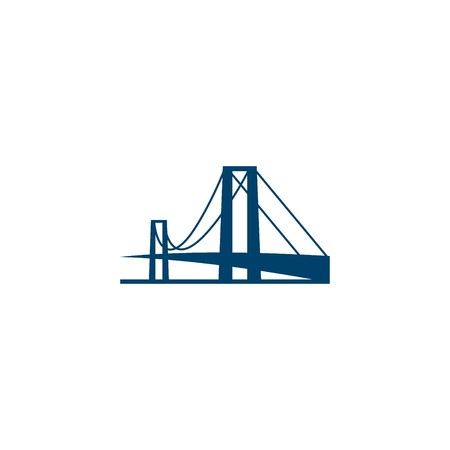 silhouettes: Bridge Building Logo Template