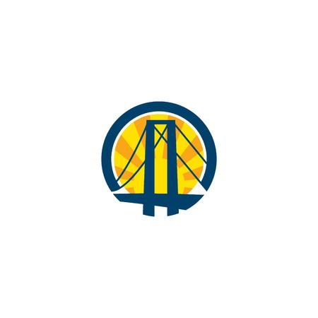 橋ロゴのテンプレート 写真素材