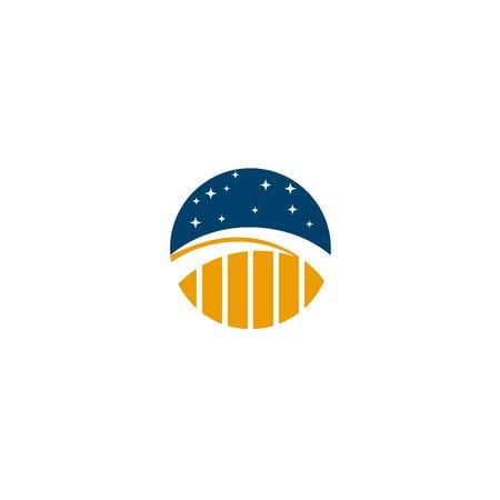 logotipo turismo: Plantilla Logotipo de construcción de puentes
