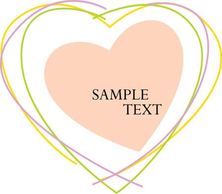 Valentine Text Vector