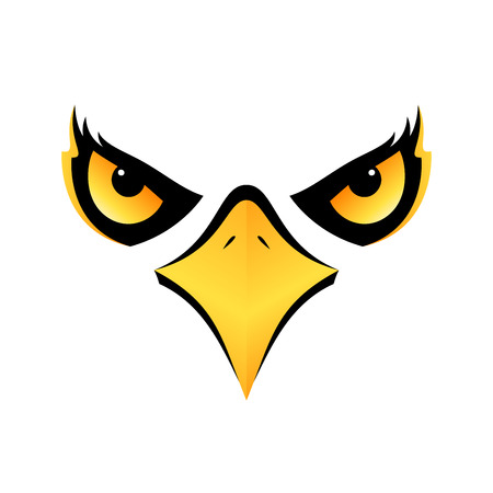 eagle head isolated concept design on white background for your designs  icon eps10