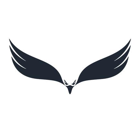 Hunter eagle. Eagle with negative space on white background. Vector illustration. Illustration