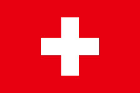 Flag design. Swiss flag on the white background, isolated flat layout for your designs. Vector illustration.