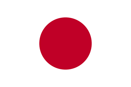 Flag design. Japanese flag on the white background, isolated flat layout for your designs. Vector illustration.