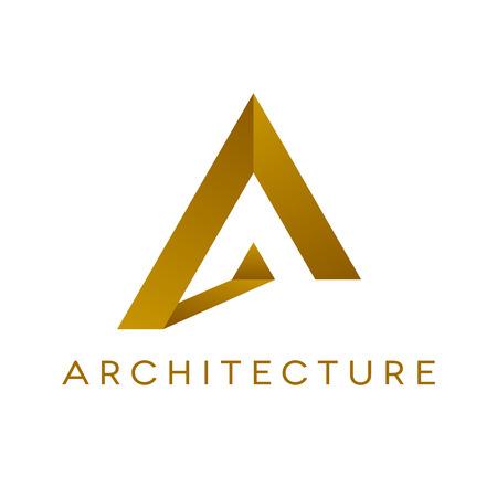 Ontwerp van architectuurlogo op witte achtergrond. Geïsoleerde vectorillustratie.