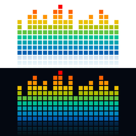 Square dots shaped equalizer icon design. Vector illustration template.