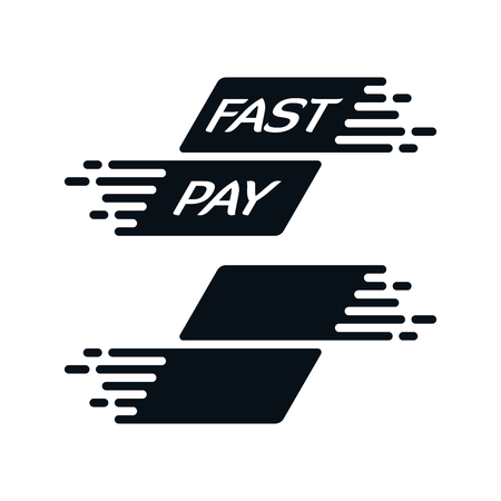 Fast payment icon on white background. Financial concept design.
