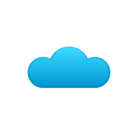 Cloud computing icon on white background. Cloud vector icon.