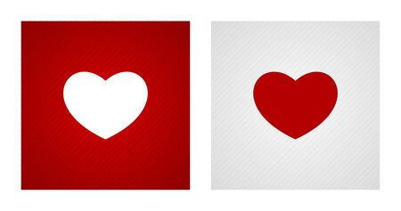Blank heart shapes on red and white striped backgrounds. Romance backgrounds.