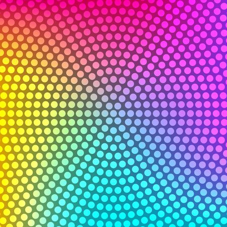 Colorful gradient background with circular dotted texture. Rainbow abstract background. Çizim