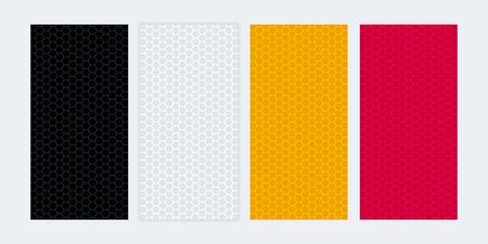 Colorful banners with honeycomb textures. Abstract blank banner set. Illusztráció
