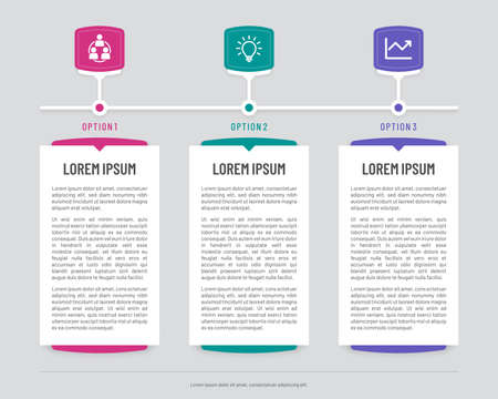 Colorful vertical banners with abstract screens. Timeline infographic template with three steps.