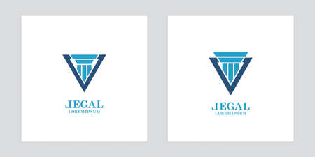 Column icons in delta forms on white background.  design for law offices and museums. Illustration