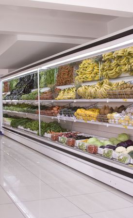 produce sections: refrigerator