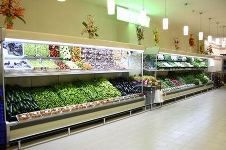 supermercado: nevera Foto de archivo