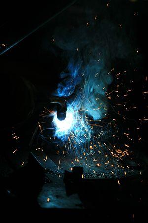 lighting technician: welding background