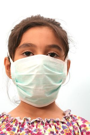 little girl and a mask photo