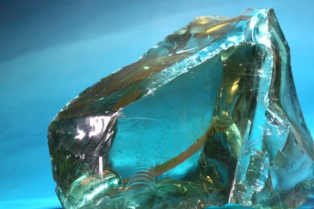 raw material: Against the light reflections in glass raw material Stock Photo