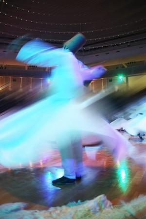 Mevlana dervishes dancing in the museum, konya photo