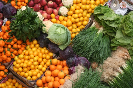 image of healthy foods, fruit and vegetable market