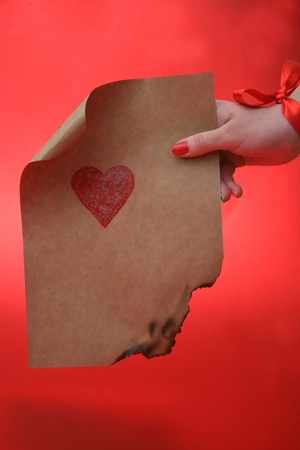 emotional heart design crafted Valentine's Day Stock Photo - 8742856