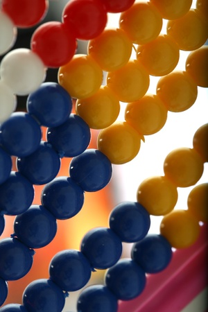 depth of field close to the plastic abacus photo