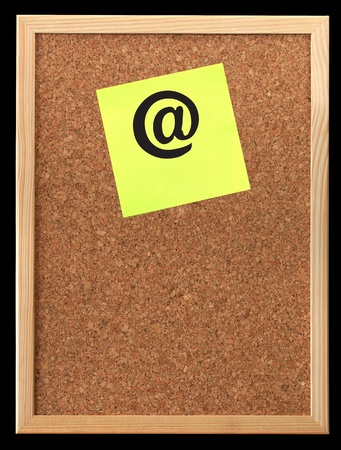An empty cork bulletin or message board photo