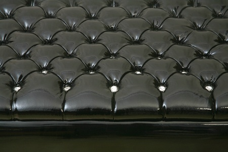Luxury buttoned leather pattern background photo