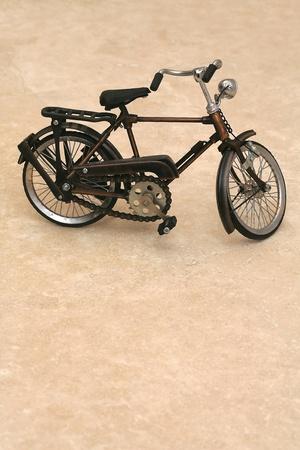 image of marble blocks on the toy bike photo