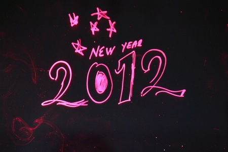 Color image of stars in the sky and the 2012 new year Stock Photo - 10535172