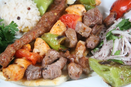 turkish kebab: Turkey meat dishes made ​​from an image of the traditions of