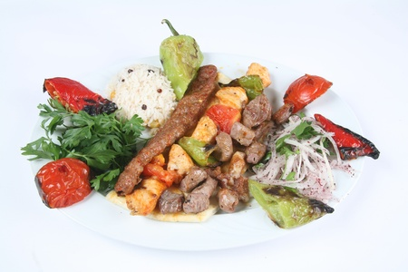 Turkey meat dishes made ​​from an image of the traditions of