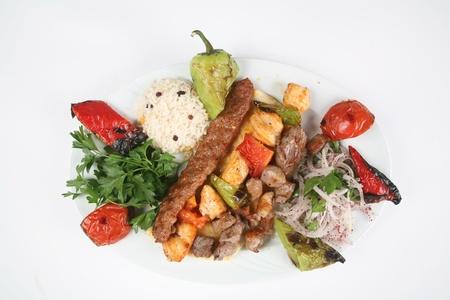 pinchos morunos: Turqu�a platos de carne elaborados a partir de una imagen de las tradiciones de