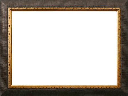 old antique gold frame over white background Stock Photo - 10670205