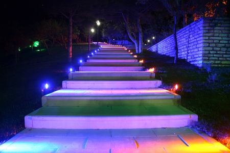 LED-lit walking path technology photo