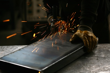 welding closeup bright light and hands working  Stock Photo - 10898252