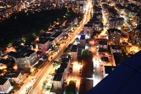 selcuklu: konya city night Stock Photo