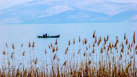 rushy: Images from beysehir Lake Konya Stock Photo