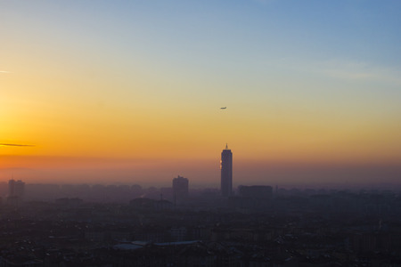 Konya city sunrise