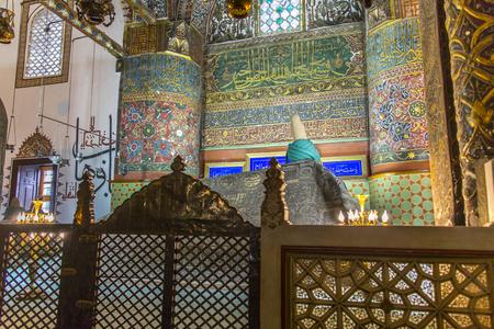 seljuk: Images from the Mevlana Museum in Konya Editorial