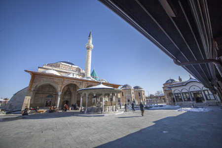 Images from the Mevlana Museum in Konya Editorial