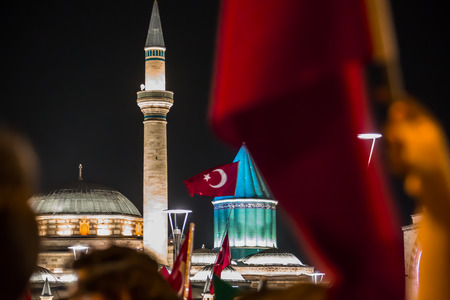 coup: 27 July 2016,Konyal - TURKEY: After the military coup in Turkey continues to keep democracy seizures occur in people with flag