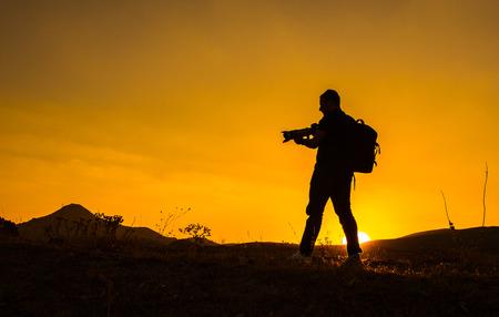 distributing: The sunset events Explorer photographer Stock Photo