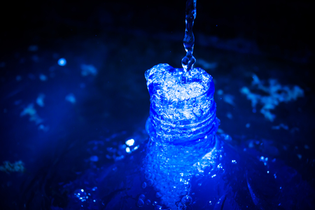 fluidity: blue toned water droplets Stock Photo