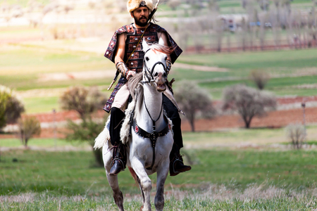 Costume of the Turks and horse riding