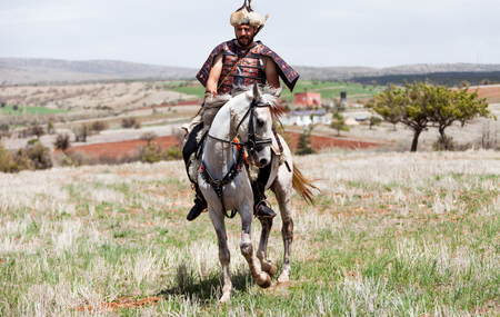 the turks: Costume of the Turks and horse riding