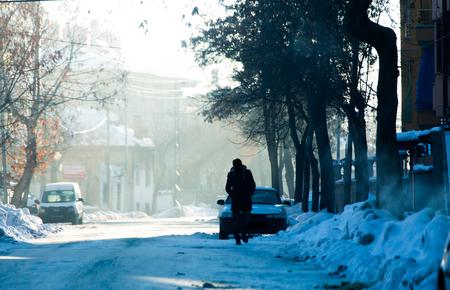 Antecedentes de la historia de invierno Foto de archivo