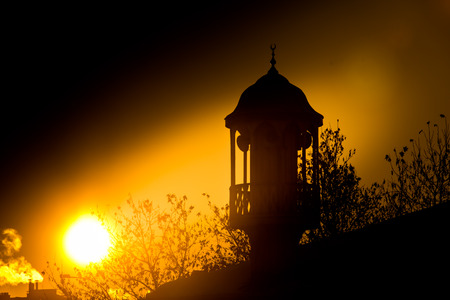 Sunrise in a mosque in Konya Stock Photo